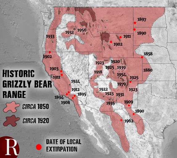 grizzlies historic range
