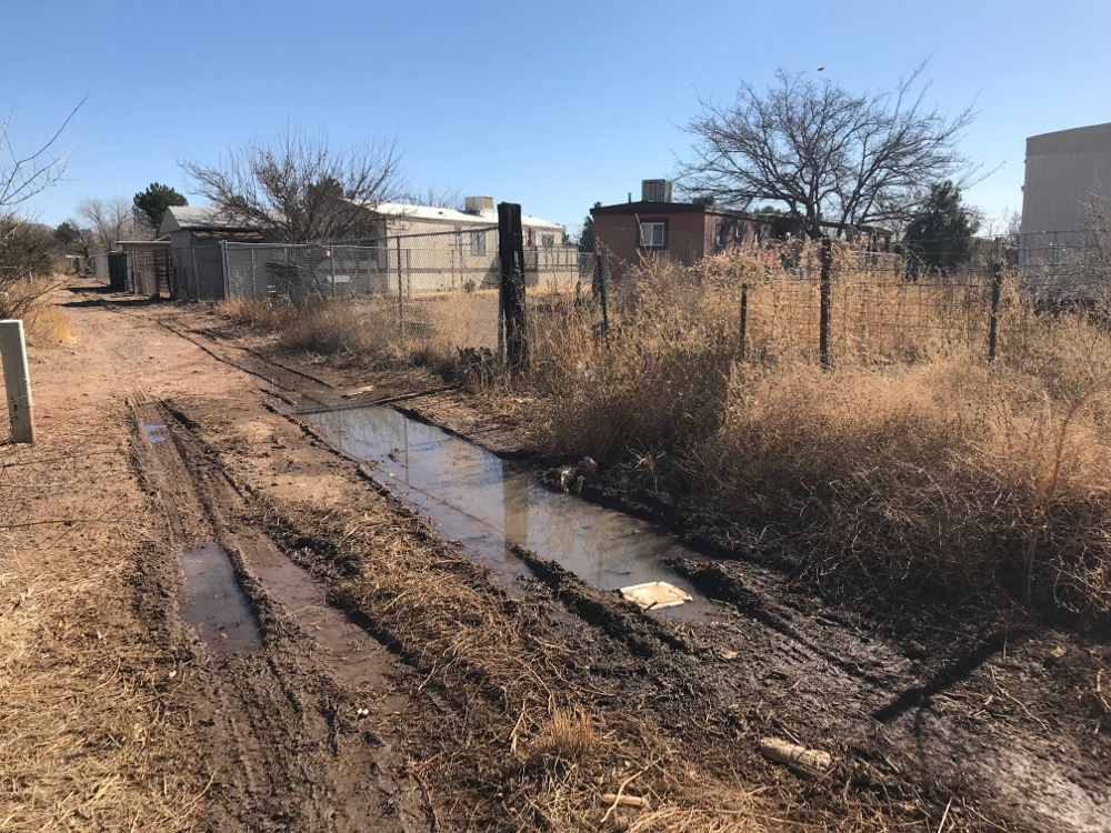 bay acres septic leak