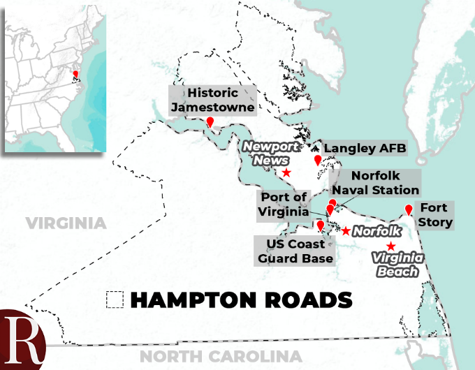 Hampton Roads map
