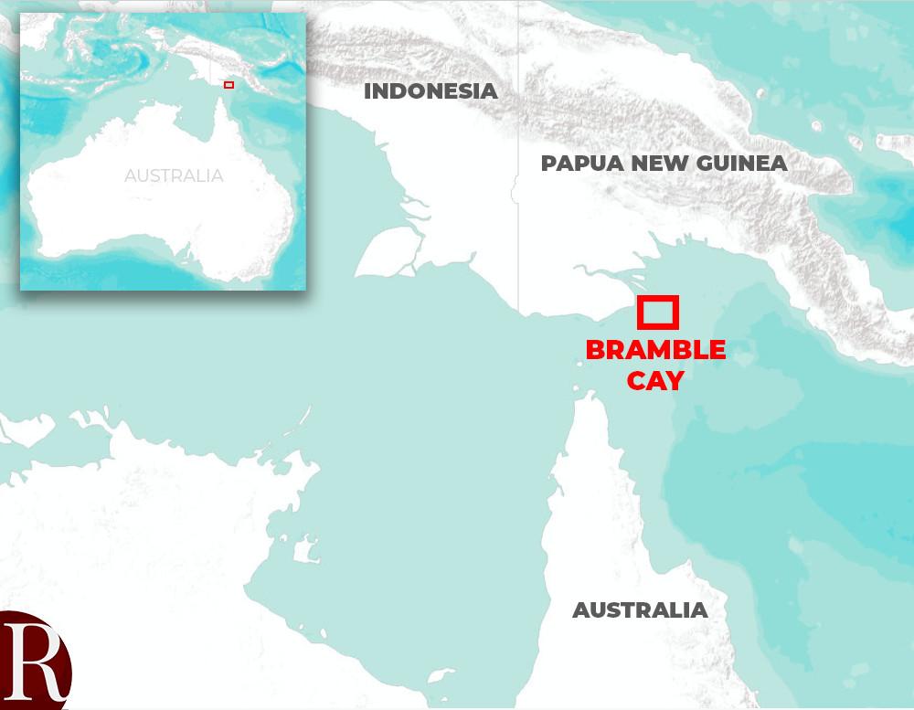 Bramble Cay locator map