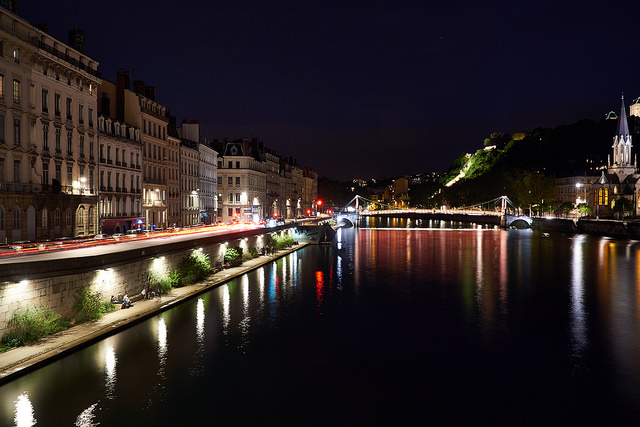 Lyon river lights