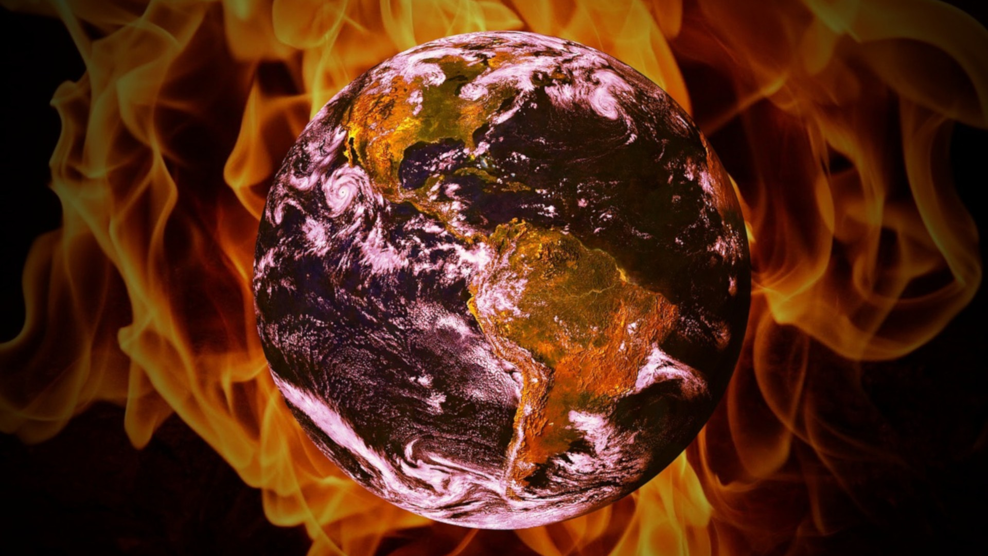 Earth burning