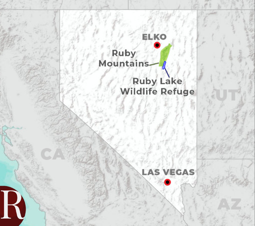 ruby mountains map