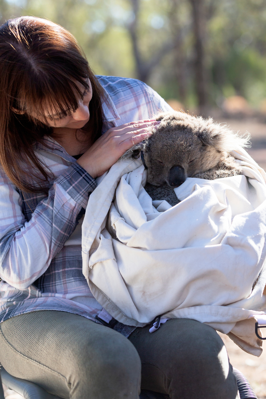 Mella with koala