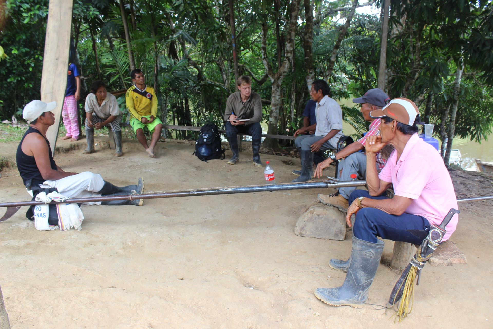 talking to hunters