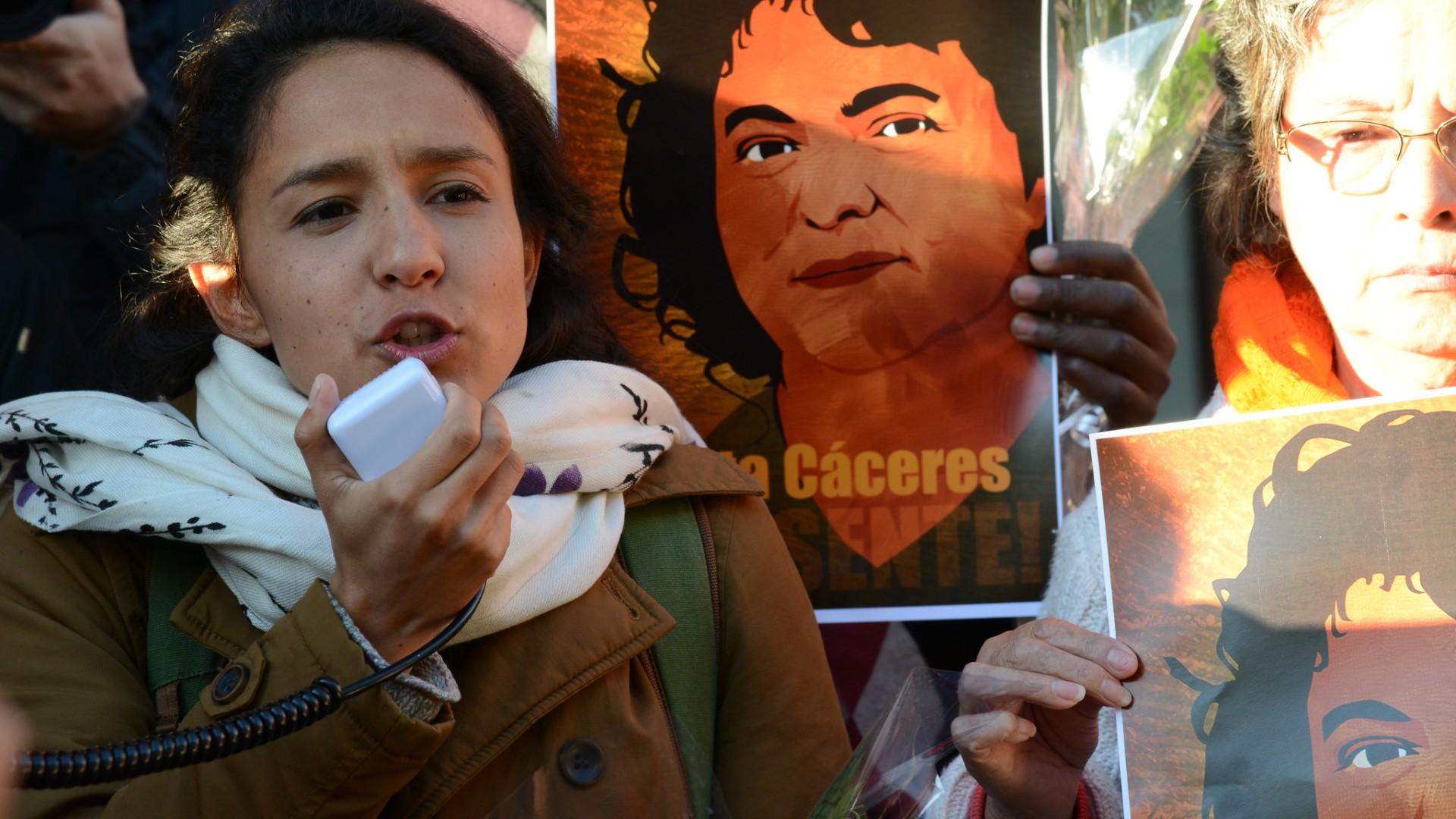 Berta Cáceres vigil