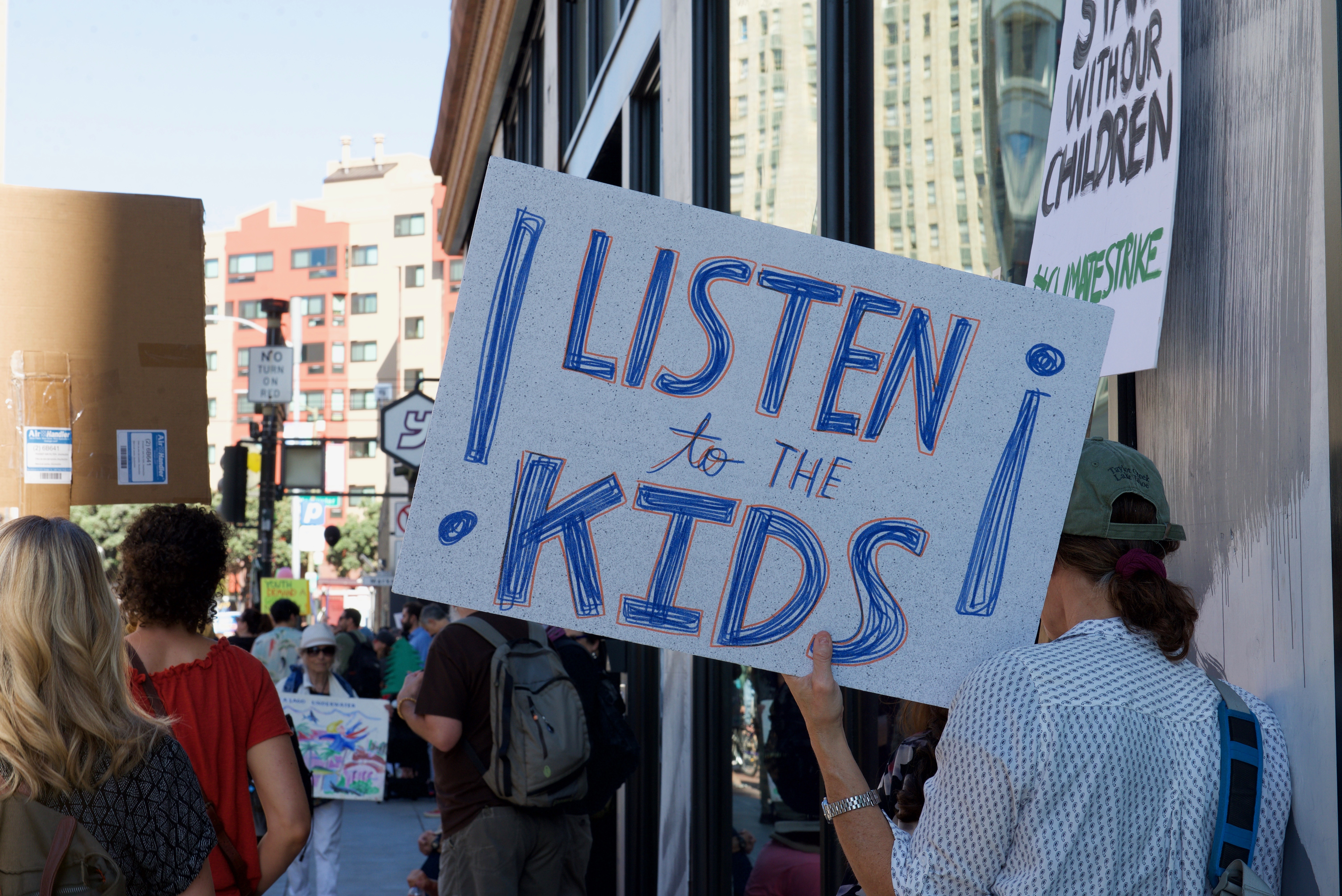 Listen to the kids sign