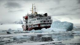 Icebreaker ship in water