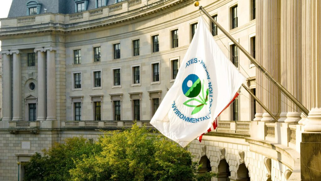 EPA building and flag