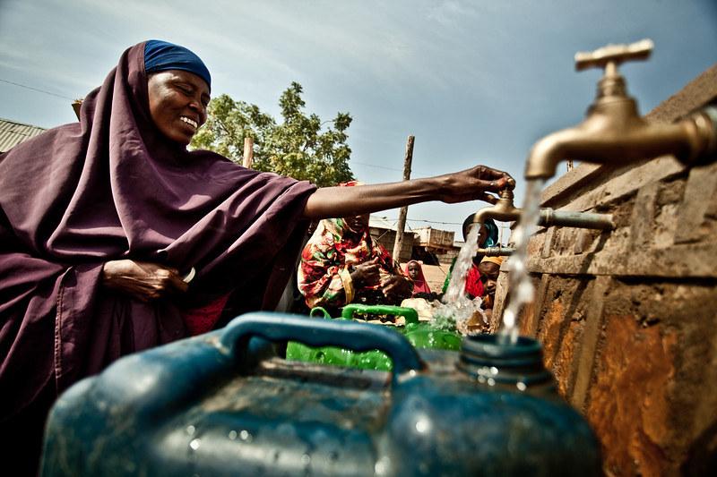 filling water jugs