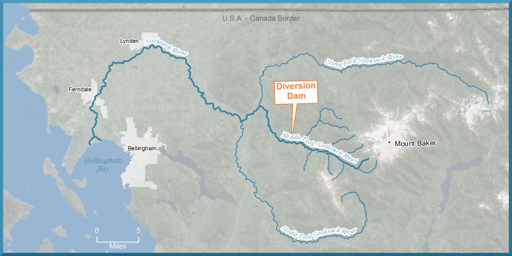 map of diversion dam and region