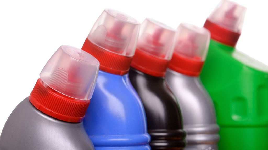 plastic bottles with plastic cap