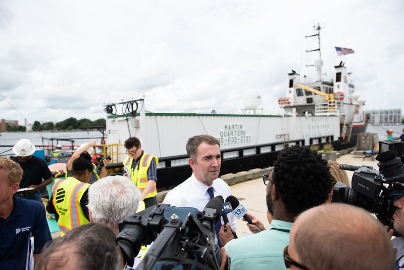 Governor Ralph Northam at a press conference