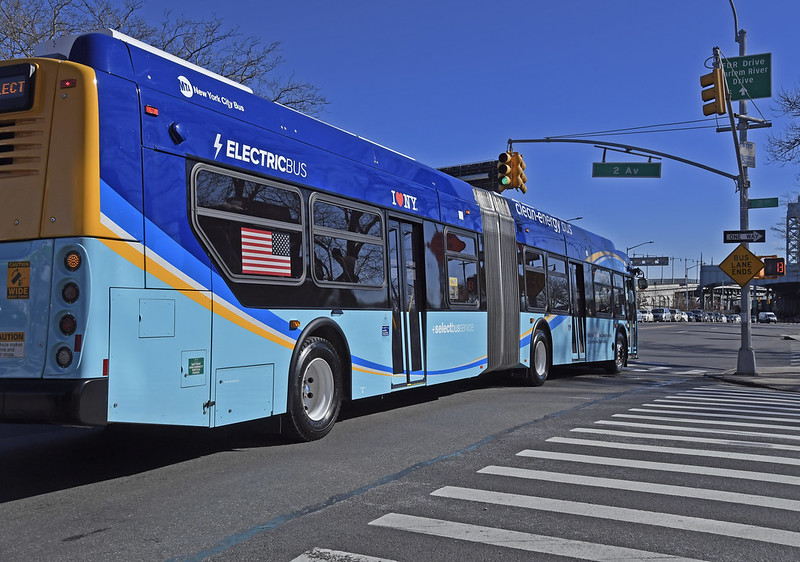 electric bus NYC
