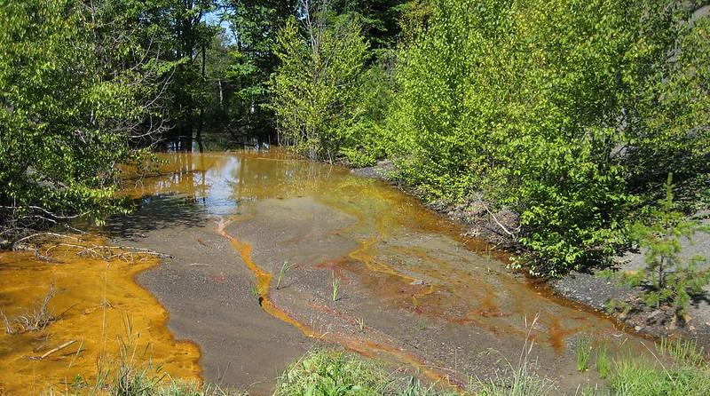 orange colored water