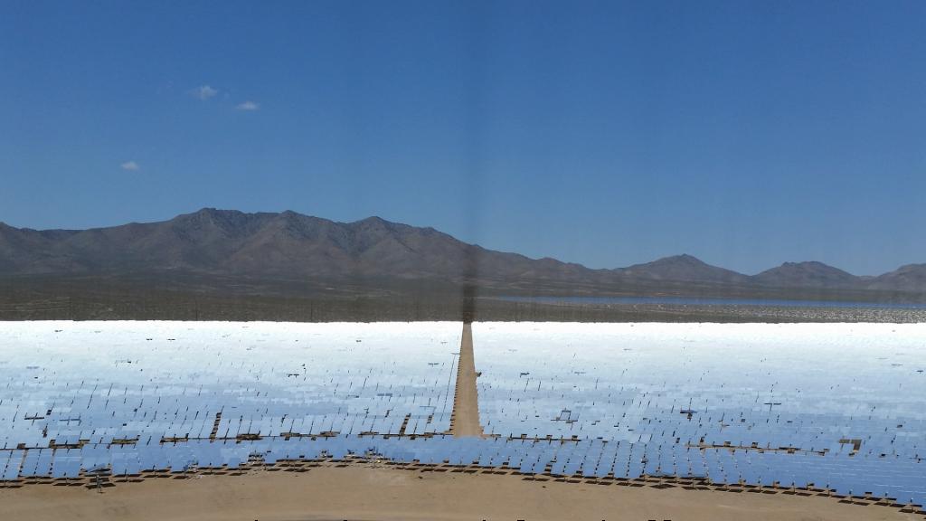 solar panels catching the sun