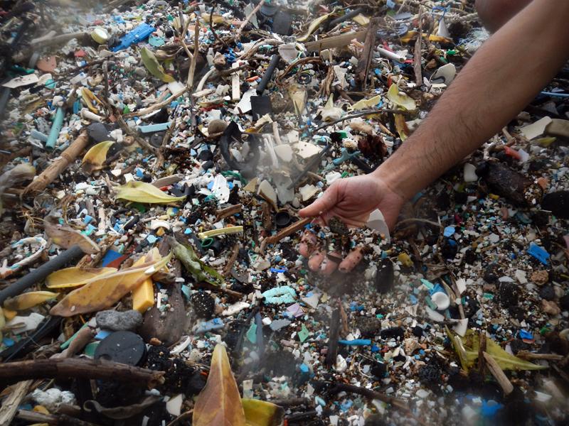 Kamilo Beach plastic trash