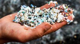 plastic bits in hand